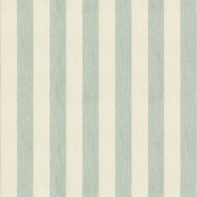 Norfolk Stripe - Mint - Cream cotton fabric with mint stripes