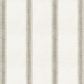 Angus Stripe - Flax - Beige linen fabric with brown stripes