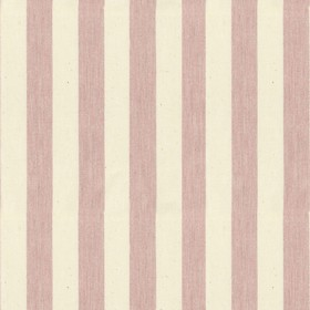 Norfolk Stripe - Pink - Cream cotton fabric with pink stripes