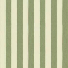 Norfolk Stripe - Sage - Cream cotton fabric with sage stripes