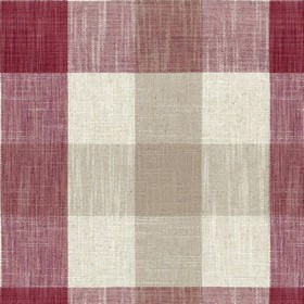 Oban Check - Peony - Country fabric with beige and pink checkered pattern