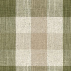 Oban Check - Sage - Country fabric with cream, beige and sage checkered pattern