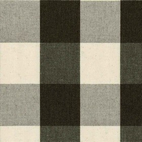 Avon Check - Black - Cotton fabric with black, beige and grey with checkered pattern