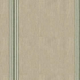 Odeon 8 - Slate - Light grey cotton fabric with green stripes