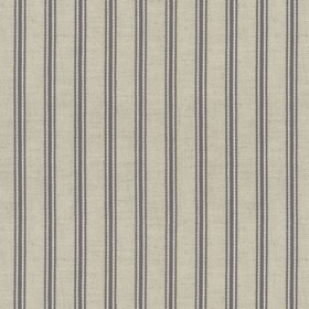 Organic Ticking - Mist - Light grey cotton fabric with grey coloured stripes