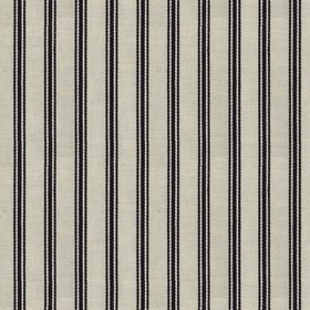 Organic Ticking - Night - Light grey cotton fabric with night coloured stripes