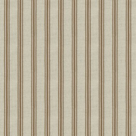 Organic Ticking - Nutmeg - Light grey cotton fabric with nutmeg coloured stripes