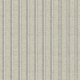 Organic Ticking - Ocean - Light grey cotton fabric with ocean coloured stripes