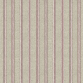 Organic Ticking - Rose - Light grey cotton fabric with rose coloured stripes