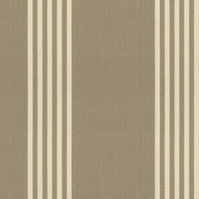 Oxford Stripe - Flax - Beige cotton fabric with natural coloured stripes