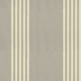 Oxford Stripe - Grey - Grey cotton fabric with natural coloured stripes