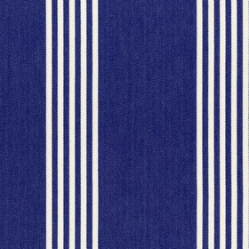 Oxford Stripe - Navy - Navy cotton fabric with natural coloured stripes