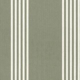 Oxford Stripe - Sage - Sage cotton fabric with natural coloured stripes
