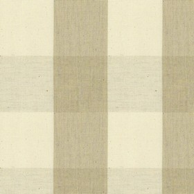 Avon Check - Cream - Cotton fabric with beige and cream checkered pattern