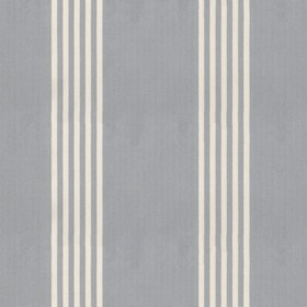 Oxford Stripe - Silver - Silver cotton fabric with natural coloured stripes