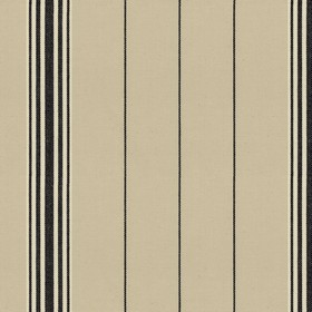 Regatta Stripe 2 - Black - Grey cotton fabric with black stripes