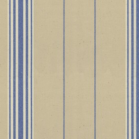 Regatta Stripe 2 - Indigo - Grey cotton fabric with indogo stripes