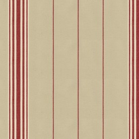 Regatta Stripe 2 - Peony - Grey cotton fabric with red stripes