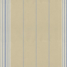 Regatta Stripe 2 - Sky - Grey cotton fabric with sky coloured stripes