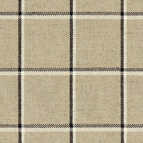 Skye Check - Charcoal - Grey linen fabric with light grey and charcoal checkered pattern