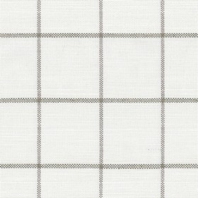 Skye Check - Flax - Natural linen fabric with beige checkered pattern