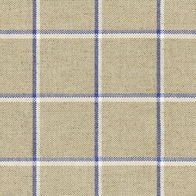 Skye Check - Indigo - Grey linen fabric with light grey and indigo checkered pattern