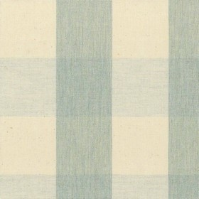 Avon Check - Mint - Cotton fabric with cream and mint checkered pattern