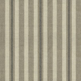 Spencer Stripe 2 - Black - Linen fabric with grey and black stripes
