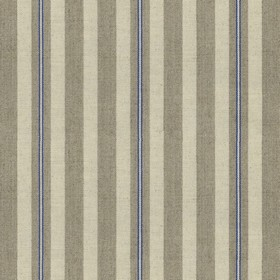 Spencer Stripe 2 - Indigo - Linen fabric with grey and indigo stripes