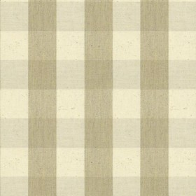 Suffolk Check L - Cream - Country cotton fabric with natural and cream checkered pattern