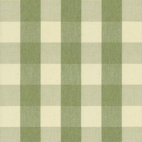 Suffolk Check L - Sage - Country cotton fabric with natural and sage checkered pattern