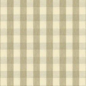 Suffolk Check S - Cream - Country cotton fabric with natural and cream checkered pattern