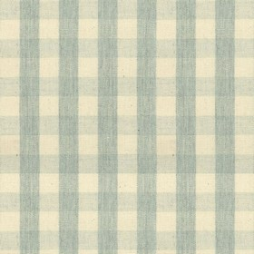 Suffolk Check S - Mint - Country cotton fabric with natural and mint checkered pattern