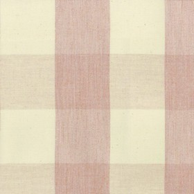 Avon Check - Pink - Cotton fabric with cream and pink checkered pattern