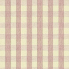 Suffolk Check S - Pink - Country cotton fabric with natural and pink checkered pattern