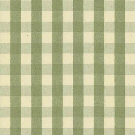 Suffolk Check S - Sage - Country cotton fabric with natural and sage checkered pattern