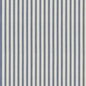 Ticking 01 - Airforce - Natural cotton fabric with blue stripes