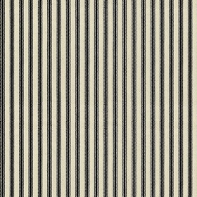 Ticking 01 - Black - Natural cotton fabric with black stripes