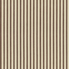 Ticking 01 - Brown - Natural cotton fabric with brown stripes