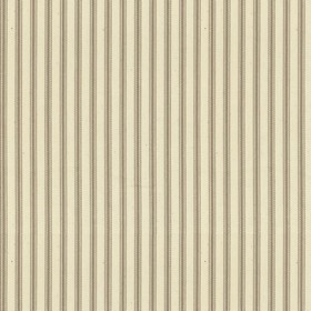 Ticking 01 - Flax - Natural cotton fabric with taupe colored stripes