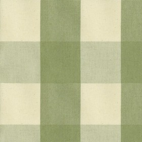 Avon Check - Sage - Cotton fabric with cream and sage checkered pattern