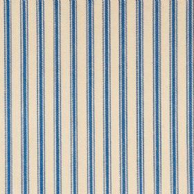 Ticking 01 - Indigo - Natural cotton fabric with indigo stripes