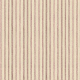 Ticking 01 - Pink - Natural cotton fabric with pink stripes