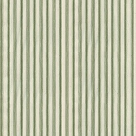 Ticking 01 - Sage - Natural cotton fabric with sage stripes