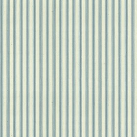 Ticking 01 - Seagreen - Natural cotton fabric with green stripes