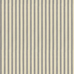Ticking 01 - Silver - Natural cotton fabric with silver coloured stripes