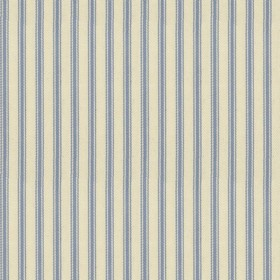 Ticking 01 - Sky - Natural cotton fabric with sky coloured stripes