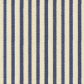 Ticking 2 - Airforce - Natural cotton fabric with blue stripes