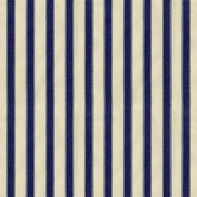 Ticking 2 - Navy - Natural cotton fabric with navy stripes