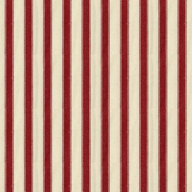 Ticking 2 - Peony - Natural cotton fabric with red stripes